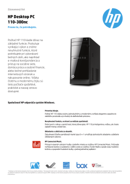 Datasheet HP 110-300nc - HP