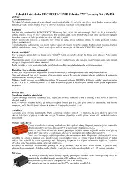 Robotická stavebnice FISCHERTECHNIK Robotics TXT
