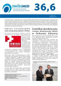 Informator dla pacjentów i pracowników grupy Swissmed.