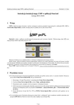 Instrukcja instalacji mapy UMP w aplikacji OsmAnd