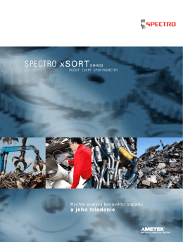 SPECTRO xSORT - SPECTRO APS spol. s ro