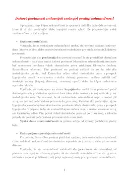 Daňové povinnosti zmluvných strán pri predaji nehnuteľnosti