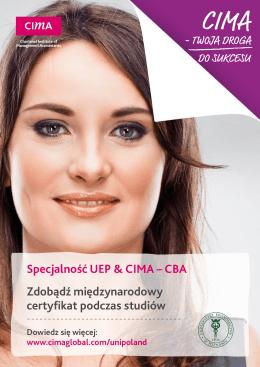 Specjalność UEP & CIMA – CBA Zdobądź międzynarodowy