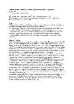 Štúdium odozvy kardiovaskulárneho systému na celotelovú