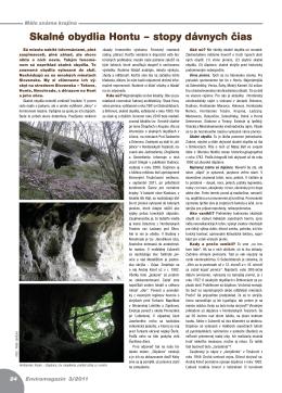 Skalné obydlia Hontu – stopy dávnych čias