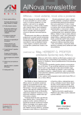 Číslo1, marec 2013 - Academia Istropolitana Nova