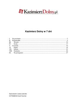 Kazimierz Dolny w 7 dni