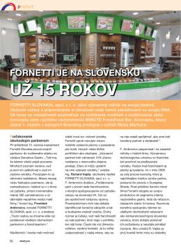 INSTORE 05/2014: Fornetti je na Slovensku už 15 rokov