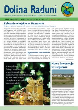 Zebranie wiejskie w Straszynie Nowe inwestycje w