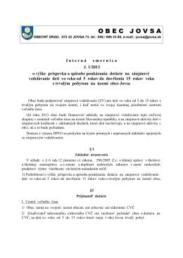 SMERNICA CVČ - č. 1/2013
