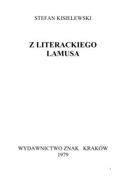 Z LITERACKIEGO LAMUSA