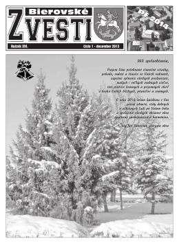 Bierovské zvesti - december 2013