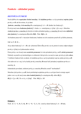 11 - Funkcie - základné pojmy a vlastnosti