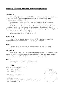 Niektoré vlasnosti množín v metrickom priestore