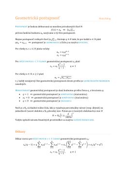 MO Geometrická postupnosť