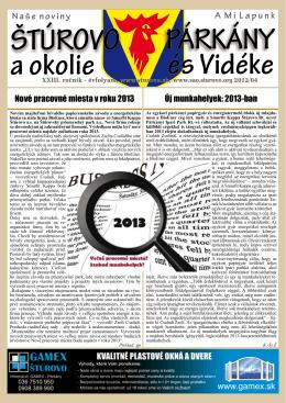 2012/04 - Mesto Štúrovo