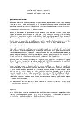 Správa nezávislého auditora obce .p