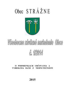 VZN - Obec Strážne 2015