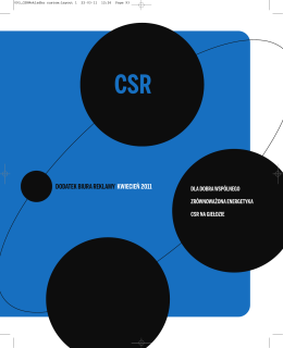csr - Media & Marketing Polska