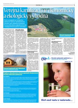 č. 30/2011 - Oravská vodárenská spoločnosť