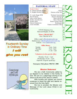 July 6th, 2014 Bulletin