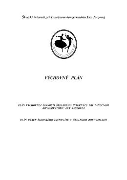 výchovny plán - plán výchovnej činoosti 2012-13