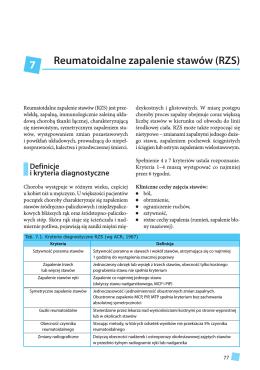 Reumatoidalne zapalenie stawów (RZS) 7