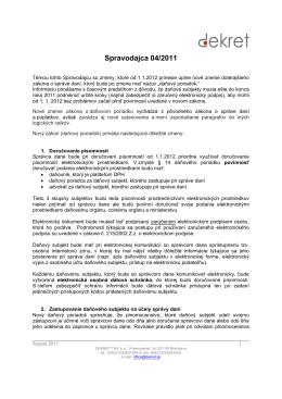 Spravodaj 04/2011 Daňový poriadok