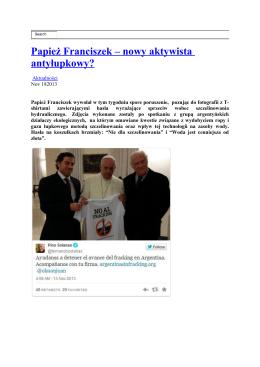 Papież Franciszek – nowy aktywista antyłupkowy?