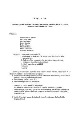 Zápisnica OZ 05.12.2014