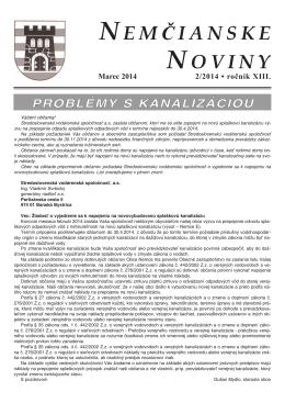 Nemčianske noviny č. 2/2014