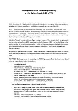 Koncepcia učebníc slovenskej literatúry pre 1., 2., 3. a 4