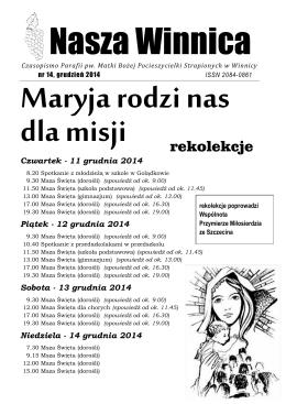 14 - Nasza Winnica