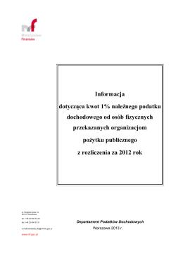 Wykaz organizacji pożytku publicznego, które w 2013 r