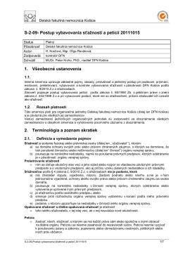 S-2-09-Postup vybavovania sťažností a petícií 20111015