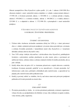 Obecné zastupiteľstvo Obce Kynceľová vydáva podľa § 6, ods