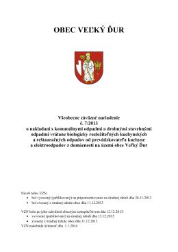 VZN o odpadoch.pdf - oficiálna stránka obce Veľký Ďur