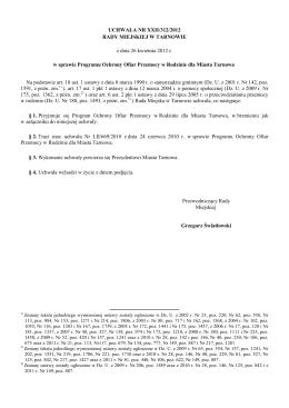 Uchwała Nr XXII/312/2012 z dnia 26 kwietnia 2012 r.