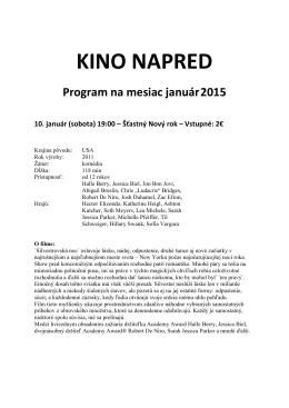 Kino NAPRED - január 2015