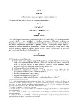 Navrh zakona o odpadoch MPK - NATUR