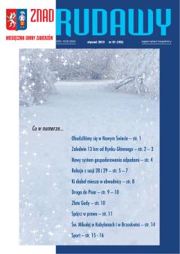 Styczeń 2013 - Miesięcznik Znad Rudawy