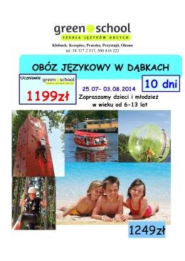 1199zł - Szkoła Języków Obcych Green School