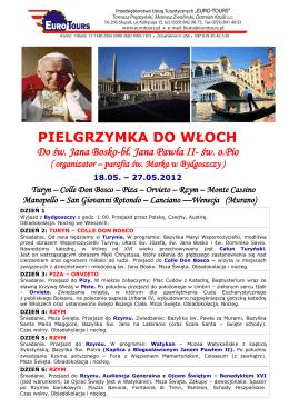 Wycieczka do Włoch - Parafia św. Marka w Bydgoszczy