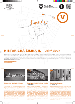 II. HISTORICKÁ ŽILINA II. – Veľký okruh 71 04