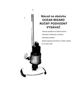 Bazénový vysávač Ocean WIZARD