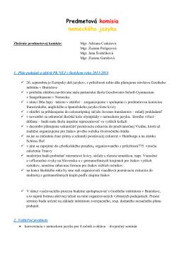 Predmetová komisia nemeckého jazyka