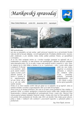 Marikovský spravodaj 2013-2