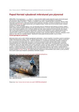Popod Hornád vybudovali mikrotunel pre plynovod