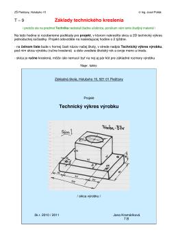 T-9 Technické kreslenie