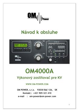 OM4000A - OM Power